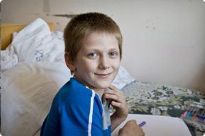 Boy at Gomel Children's Hospital