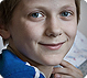 Boy at Belarus' Gomel Children's Hospital