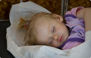 A young girl in Gomel Children's Hospital