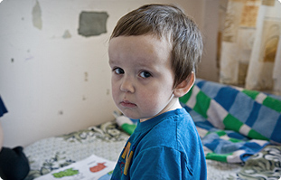 Child at Gomel Children's Hospital in Belarus