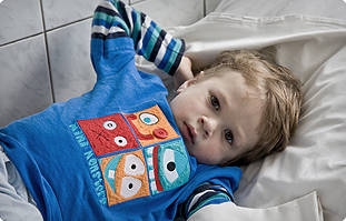 Young boy in Gomel Children's Hospital, southeast Belarus