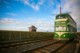 One of Blackpool's famous trams - we'll be walking alongside these in the name of helping the Gomel Weenies!