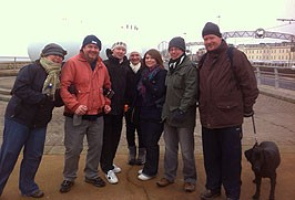 The Chernobyl Heart team at the start of our sponsored walk, from left: Rachel Mallett, Nige Burton, David Parkinson, Claire Shuttleworth, Zoe Ruckledge, Jamie Salisbury-Jones, Tony Mills and Sasha